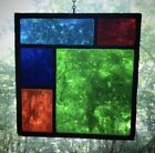 Mid Century Modern Architectural Church Salvage Leaded Stained Glass Geometric