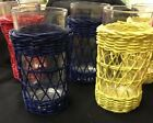 Plastic Drinking Glasses With Wicker Sleeves Set Of Six