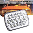 5X7 7X6 LED Headlight DRL For 86-95 Jeep Wrangler YJ 84-01 Cherokee XJ