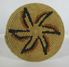 Vintage Native American Indian Hand Woven Hopi Wicker Basket Tray Plaque #4 yqz