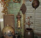 Primitive Antique Vtg Style Grungy Carriage Country Farm Hanging LED Light Lamp