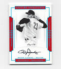 Roger Clemens 2017 National Treasures Pastime On-Card Autograph #D 1 1 Red Sox