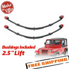 Pro Comp 51323 Rear 25 Lifted Leaf Springs w Bushing 87 96 Wrangler YJ PAIR