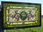 Stunning! Ornate Stained Glass Window Aladdin Lamp Architectural Salvage NR yqz