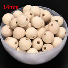 Craft Jeweley Natural Untreated Plain Wood Round Beads Wooden Spacer 6mm-20mm