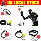 NEW Boxing Punch Exercise Fight Ball W/ Head Band For Reflex Speed Training tK