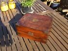 ANTIQUE VICTORIAN MAHOGANY WRITING SLOPE LOVELY BOX great color needing some tlc