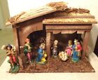 Vintage Nativity Set Sears Manger Stable 7 Figures Made in Italy No 71 97581