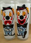 2 Hazel Atlas Vintage Tumblers Clear clown 7