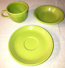 Fiestaware Lime Green Cup Saucer Fruit Bowl Homer Laughlin