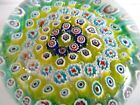 FRATELLI TOSO Murano Art Glass Paperweight Concentric Millefiori Italy 325