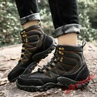 Mens Non slip Climbing Shoes High Top lace Up Sport Shoes Army Leather Sneakers
