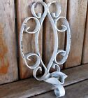 Antique SHABBY Farmhouse Rustic Wrought Iron Wall Sconce Candle Holder Vintage