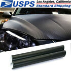3D Car Black Interior Accessories Panel Carbon Fiber Vinyl Wrap Sticker 30127cm
