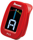 IBANEZ PU3-RD Clip Tuner mit LCD Display, rot