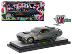 1970 Ford Mustang Boss 429 Charcoal Metallic with Flames 1 24 Diecast Model Car