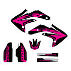 Honda CRF150R 2007-2017 graphics kit Black/Pink highlight FREE SHIPPING!!!