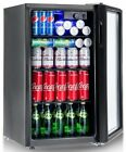 Gymax 120 Can Beverage Refrigerator Beer Wine Soda Drink Cooler Mini Fridge -