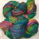 silk yarn lace wt hand dyed repurposed silk sparkle p 300 yds watercolors