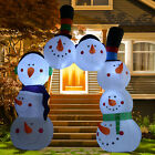 89FT Inflatable Christmas Snowman Gate Archway Holiday Outdoor Yard Decorations