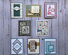 8 Handmade Mens Birthday greeting cards envelopes Stampin Up +more