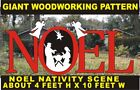 NOEL NATIVITY SIGN GIANT CHRISTMAS WOODWORKING PATTERNplancraft yard art