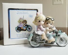 Our Love Goes The Distance 2012 Precious Moments Motorcycle Ornament 121042
