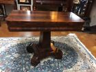 Antique Flame Mahogany Empire Game Table