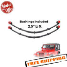 Pro Comp 51313 Front 25 Lifted Leaf Springs w Bushing 87 95 Wrangler YJ PAIR