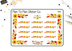 1442 S Thanksgiving Corners and Borders Planner Stickers