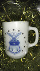 Vintage Rare Air Force Academy Coffee Mug Milk Glass Anchor Hocking USAF