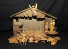 Vintage Fontanini Nativity Manger Italy Roman Creche Very Rare with music