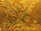 antique AMBER  ADDISON ACANTHUS glass tile victorian window stained