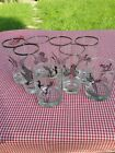 Vintage Lot Of 8 Federal Glass Sportsman TUMBLERS Goose, Duck Hunting Birds