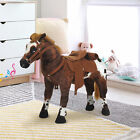 Kids Toy 24 Ride On Horse Plush Standing Pony Cowboy Gift Neigh Sound