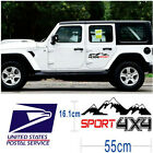 1 Pair Black+Red Color Mountain Peak 4X4 Sport Pattern Sticker for Jeep Pickup