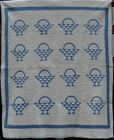 Blue and White Antique Quilt,
