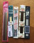 DOUBLE POINT BRITTANY COLONIAL ROSEWOOD KNITTING NEEDLES SZ 000 5 8 sets