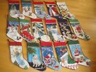 Lands End Wool Needlepoint BLANK Christmas Stocking CHOICE READ DESCRIPTION