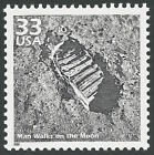 Apollo 11 Eagle First Man Walks on the Moon Walk Neil Armstrong Footprint Stamp