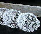 Anchor Hocking/EAPG/Clear Glass Coasters/Candle Plate/AshTray/Cottage Chic/Set 4