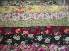ROSES flowers floral SPRING BTY Cotton QUILT Fabric U PICK see listing for info