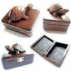 """New WOODEN Hand Carved Jewerly Casket BOX appr. 6"""" x 4.5"""" x 3"""" Limited Edition!"""