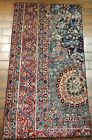 VINTAGE OLD COLLECTIBLE 100% WOOL  ESTATE WORLD RUG 2.11X5.4FT B97
