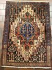 VINTAGE OLD COLLECTIBLE 100% WOOL  ESTATE WORLD RUG 2.6X3.5FT  C6
