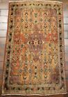 VINTAGE OLD COLLECTIBLE 100% WOOL  ESTATE WORLD RUG 2.7X4.2FT C7