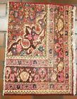 VINTAGE OLD COLLECTIBLE 100% WOOL  ESTATE WORLD RUG 1.8X2.2FT C10