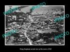 OLD LARGE HISTORIC PHOTO OF TRING ENGLAND, AERIAL VIEW OF THE TOWN c1930 2