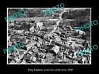 OLD LARGE HISTORIC PHOTO OF TRING ENGLAND, AERIAL VIEW OF THE TOWN c1950 2