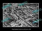 OLD LARGE HISTORIC PHOTO OF TRING ENGLAND, AERIAL VIEW OF THE TOWN c1930 1